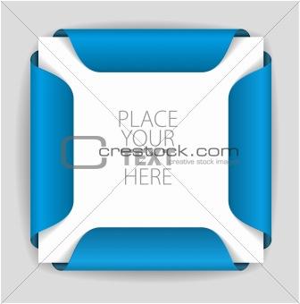 Blue paper card holder