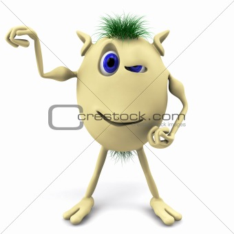 3d strong character puppet