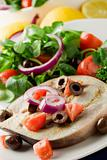 Grilled Swordfish with mixed salad