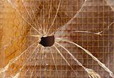 broken reinforced glass