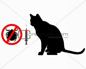 Cat tick vaccination