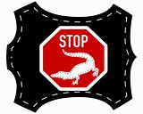 Stop crocodile leather