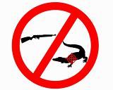 Don´t shoot crocodile