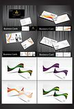 abstract multiple business cards set