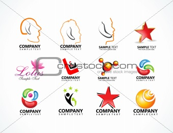 abstract multiple logo icons