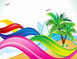 abstract summer beach background