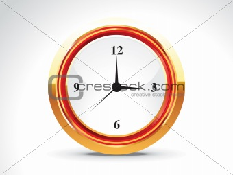 abstract shiny golden clock