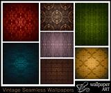 Set of 7 seamless vintage wallpapers