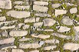 Old stony pavement