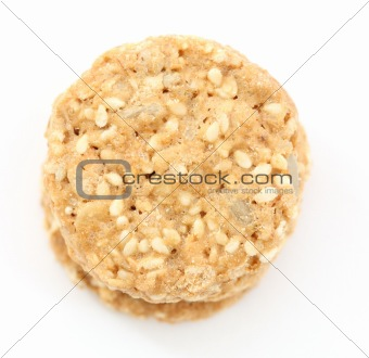 Golden oatmeal cookies