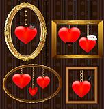 hearts portrait frames