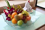 Fancy modern tropical fruits