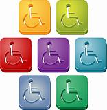 Handicap symbol button set