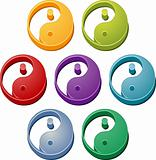 Yin Yang button set