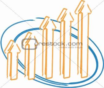Arrow bar chart