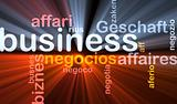Business background concept glowing