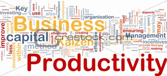 Business productivity background concept