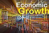 Economic growth background concept glowing