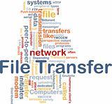 File transfer background concept