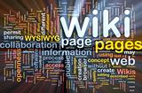Wiki pages background concept glowing