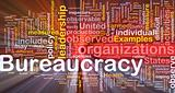 Bureaucracy is bone background concept glowing
