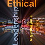 Ethical leadership background concept glowing
