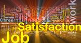 Job satisfaction background concept glowing