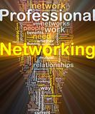 Professional networking background concept glowing