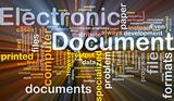 Electronic documents is bone background concept glowing