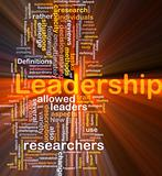 Leadership is bone background concept glowing