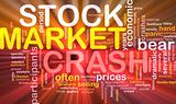 Stock market crash is bone background concept glowing