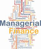 Managerial finance is bone background concept
