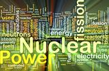 Nuclear power background concept glowing