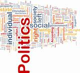 Politics social background concept