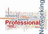 Professional networking background concept