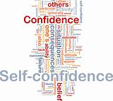 Self-confidence is bone background concept