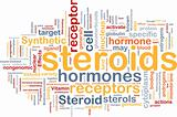 Steroids hormones background concept