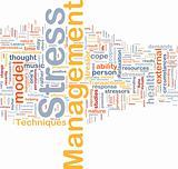 Stress management background concept