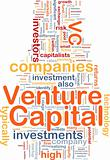 Venture capital is bone background concept