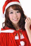 Excited Christmas girl