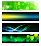 Set of abstract banners. Green Design.