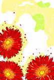 red watercolor gerbera