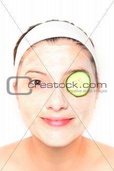 Cucumber on eye