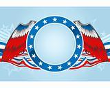 Fourth of july emblem