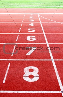 Starting lane of running track