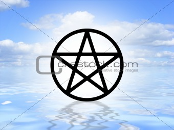 Pagan symbol on water
