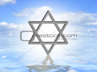 Star of David on water