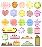 Design frames. Set of design labels. Vector