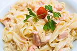 pasta and smoked salmon