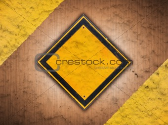 abstract retro vintage of old traffic sign on metal background grunge style